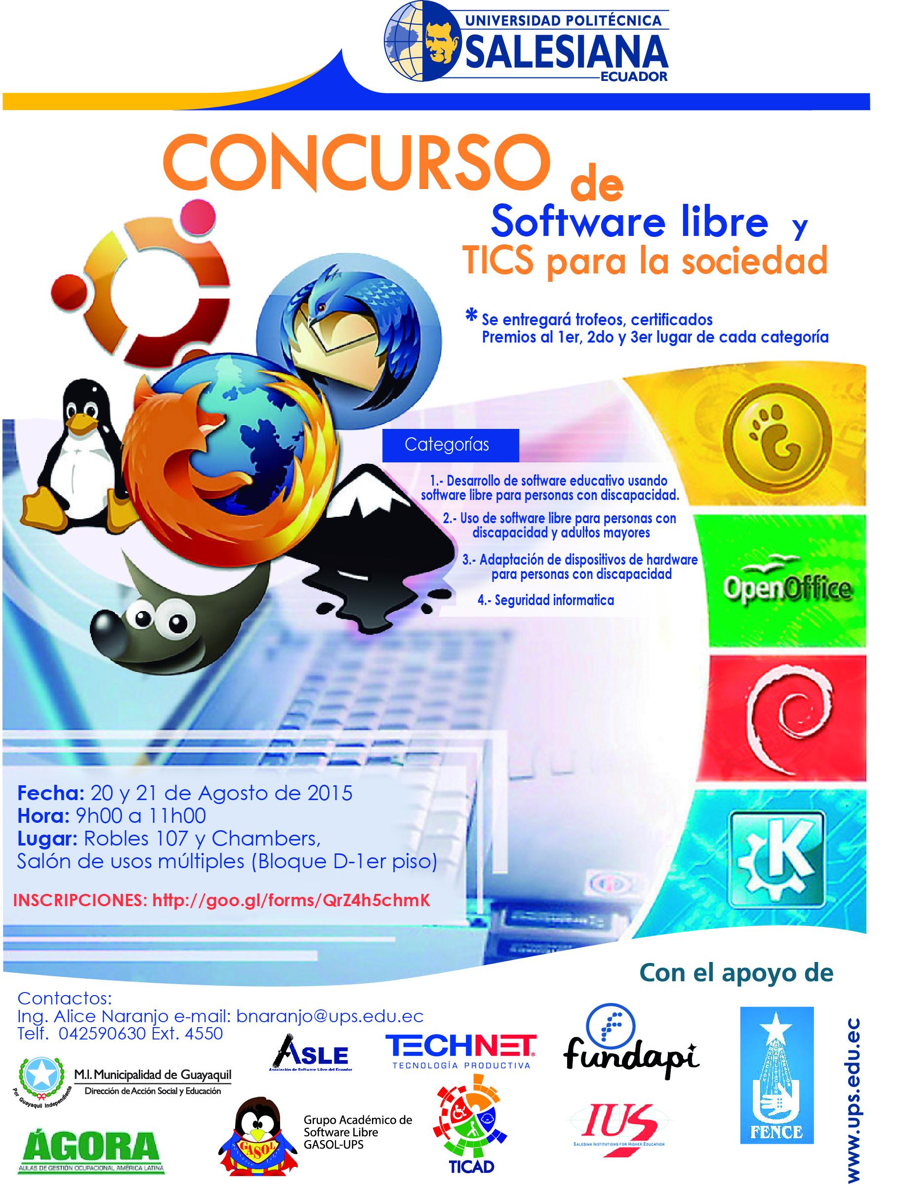 CONCURSO DE SOFTWARE LIBREfinal