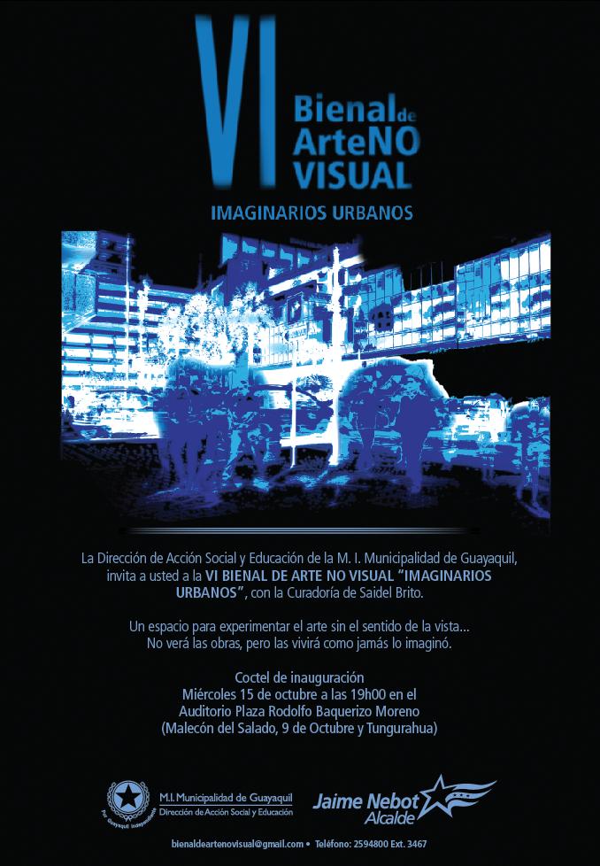 Invitación VI Bienal de Arte No Visual